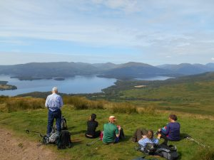 View of Loch Lomond on the West Highland Way