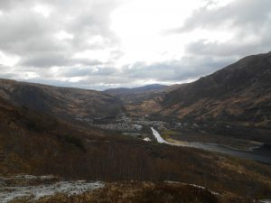 Looking down into Kinlochleven on last day of west highland way