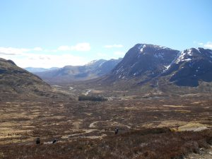 View back down to Glencoe from Devil's Staircase