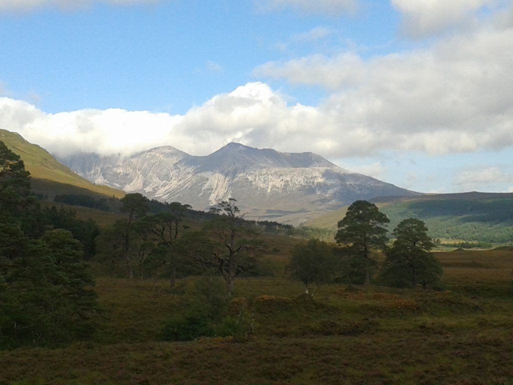 Walking towards Beinn Eighe, Scotland