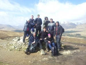 Group above Rannoch Moor on The West Highland Way