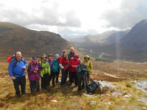 Group at the top of The Devil's Staircase on The West Highland Way