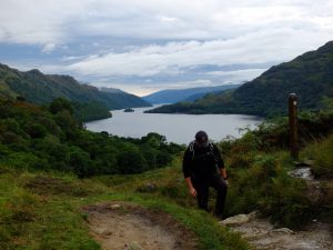 Final Summit after Loch Lomond on the West Highland Way