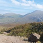 Strath Dionard view with blue sky on The Cape Wrath Trail