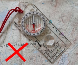 How to take a compass bearing on an OS map