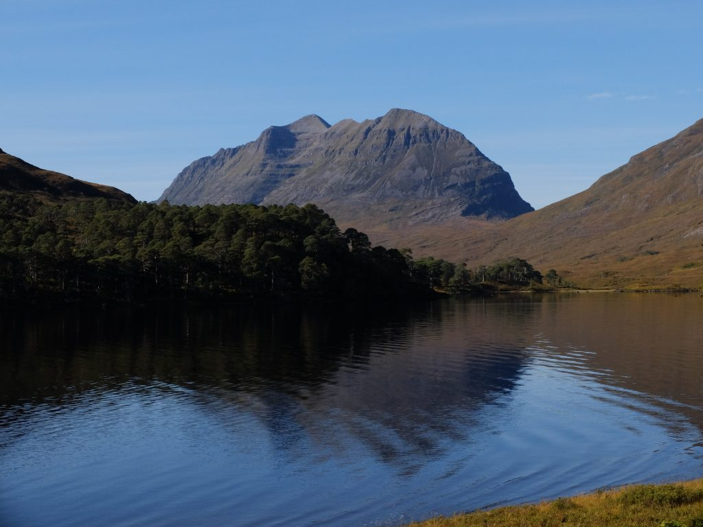 Liathach from the shore of Loch Clair