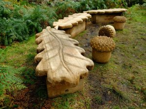 Oak Tree and Acorn Bench by Loch Lomond