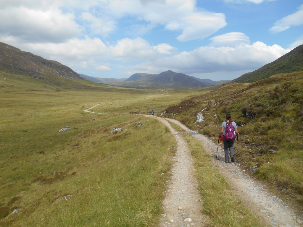 Path through a remote landscape on The East Highland Way