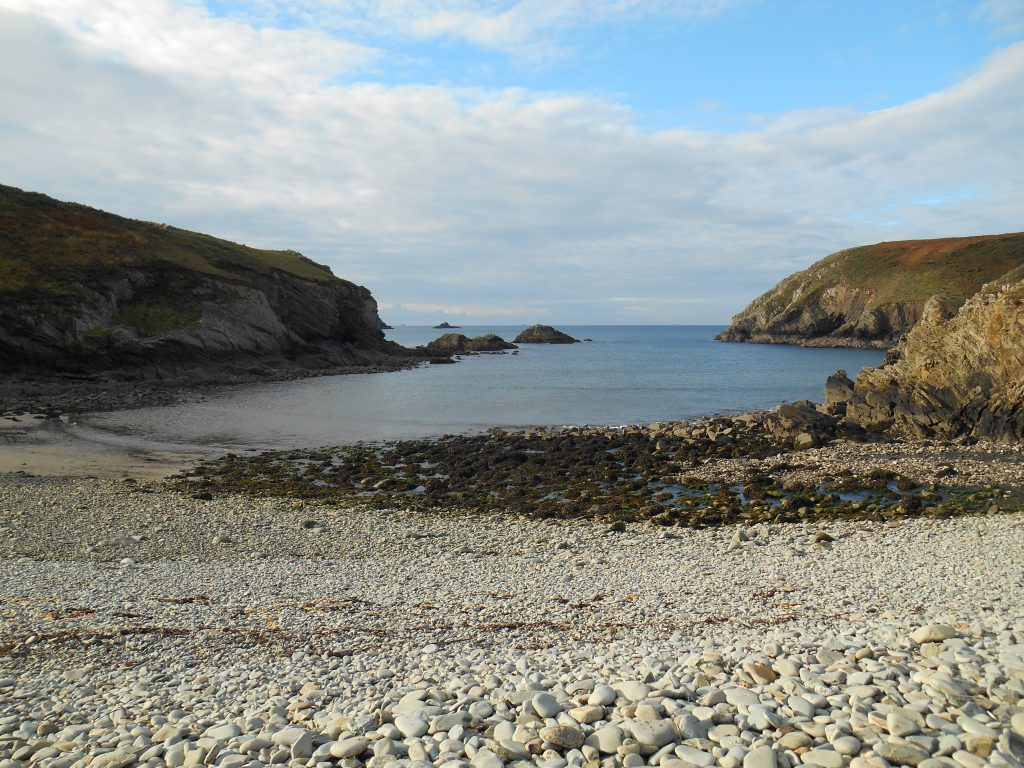Pebble beach in Pembrokeshire