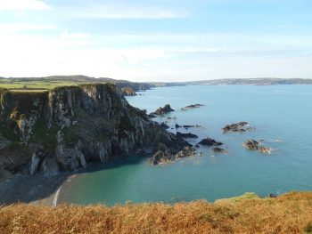 Cliff on The Pembrokeshire Coast Path