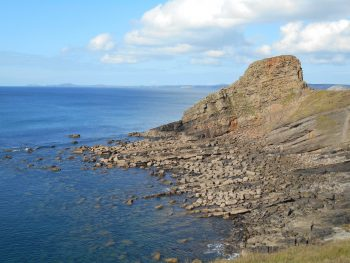 Rock formation by the sea - Pembrokeshire Coast Path