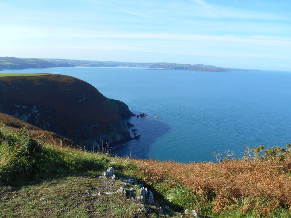 View out to sea on The Pembrokeshire Coastal Path