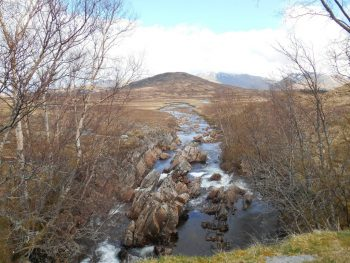 West Highland Way View from Ba Bridge on Rannoch Moor