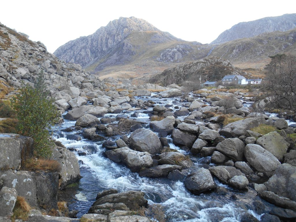 Rocky stream in the dusk - Snowdonia Way