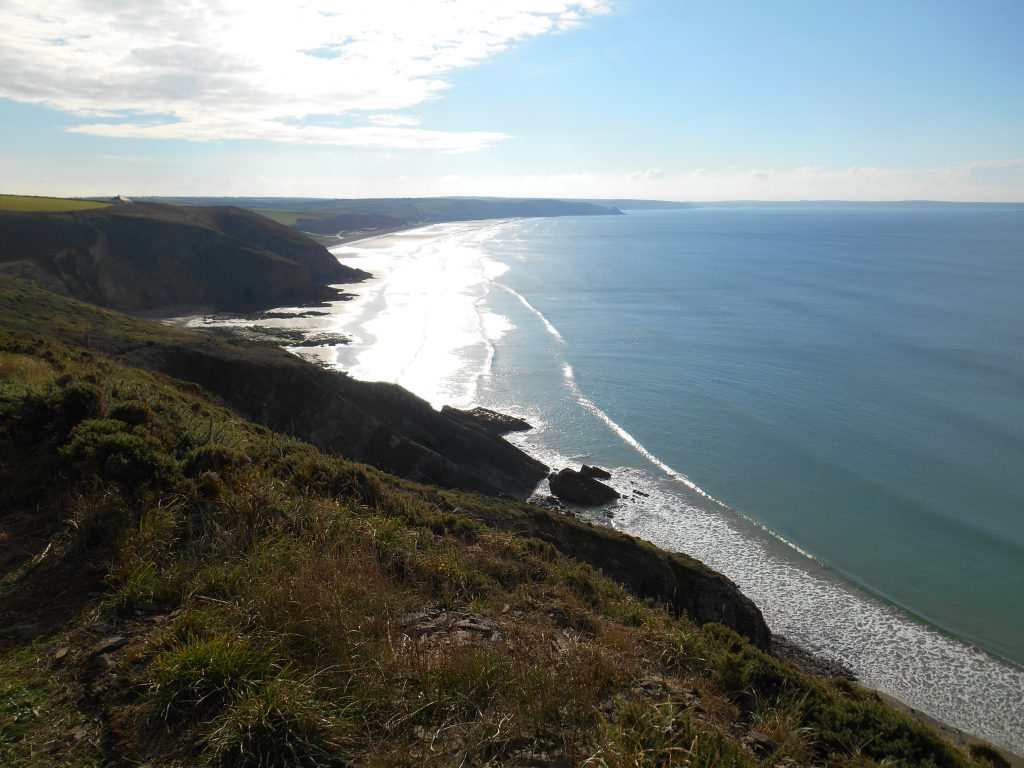 Rolling small waves - Pembrokeshire Coast Path