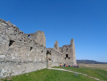 Ruthven Barracks on a very sunny day - East Highland Way