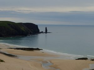 Sea Stack by Sandwood Bay on Cape Wrath Trail