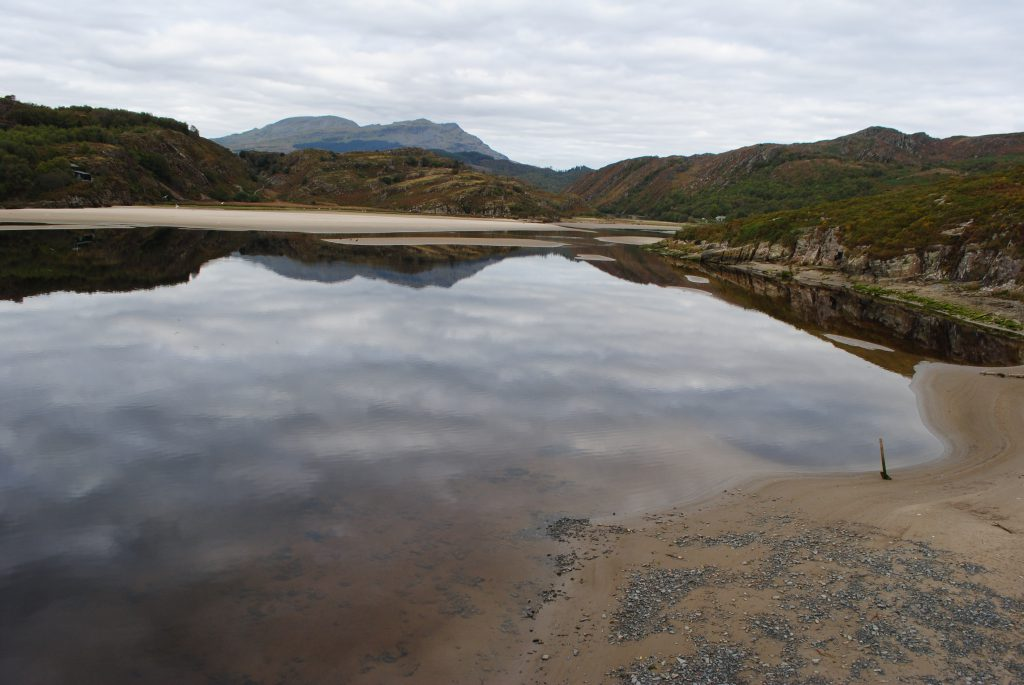 Small beach on a lake - Snowdonia Way