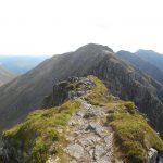 The path along The Aonach Eagach Ridge.