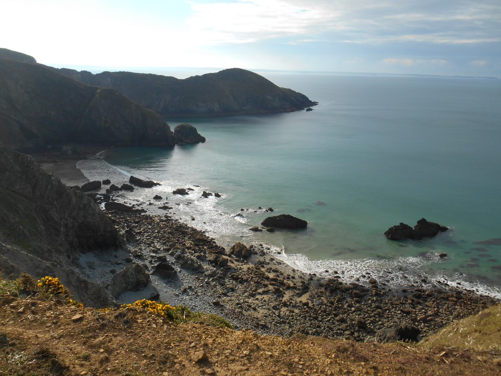 The Pembrokeshire Coast Path secluded beach
