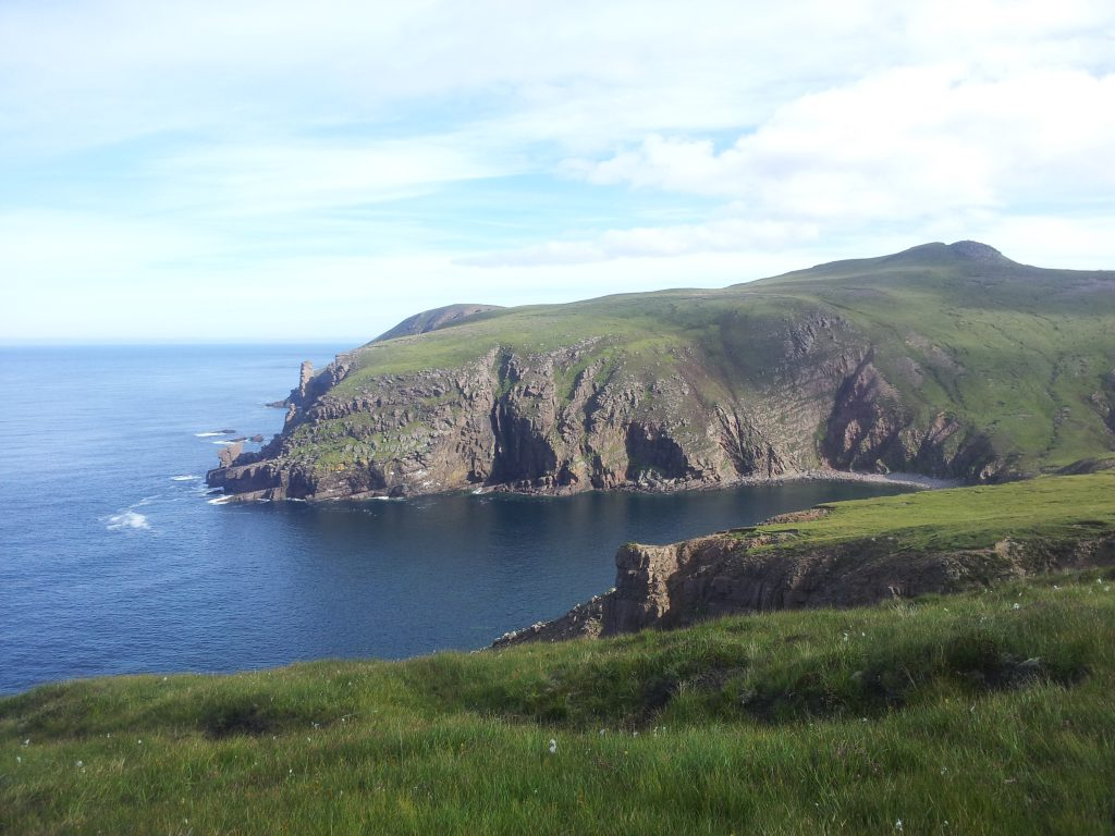 View along the coast on the way to The Cape Wrath Lighthouse