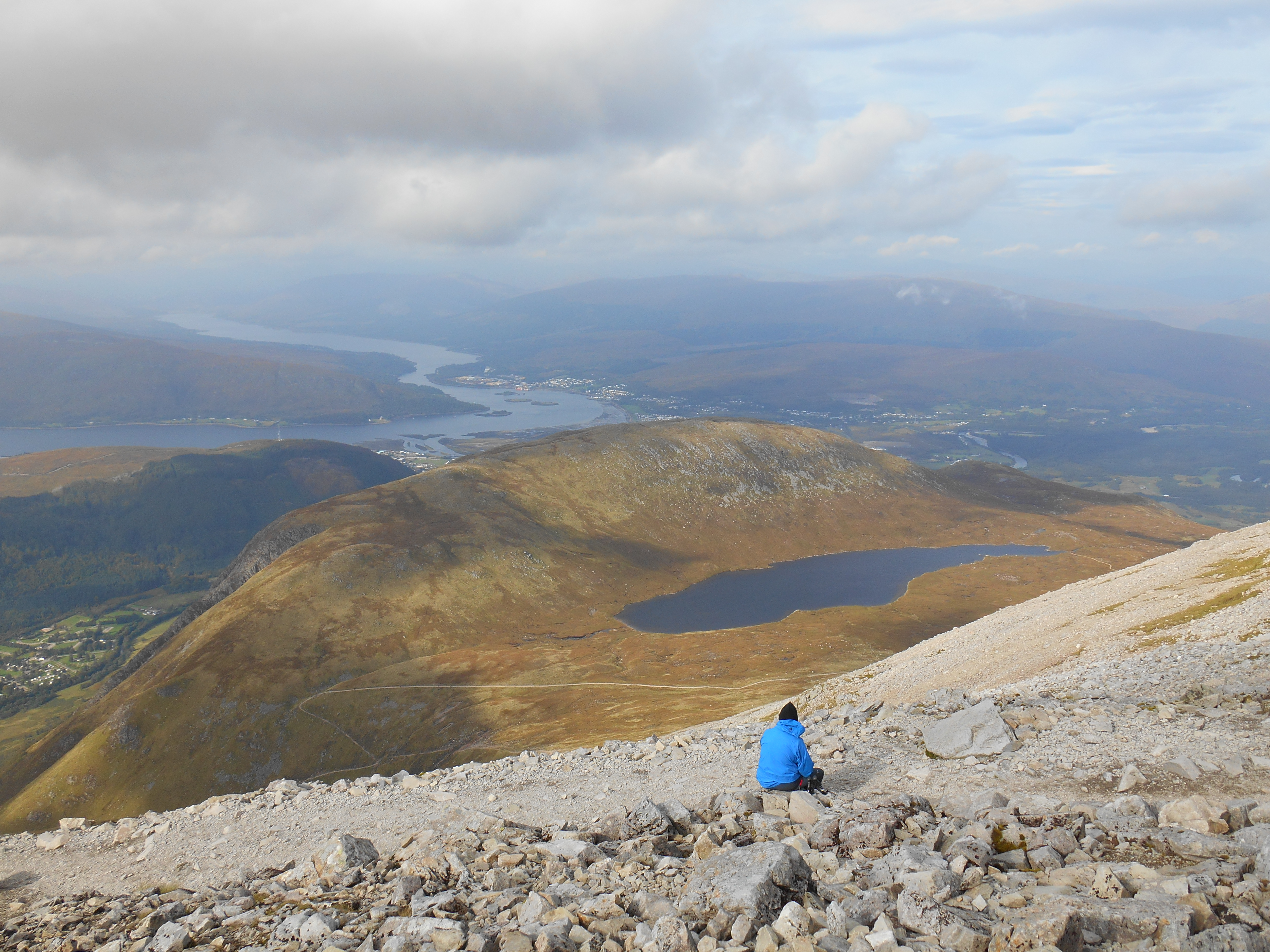 View from the Zig Zags on Ben Nevis while having a break