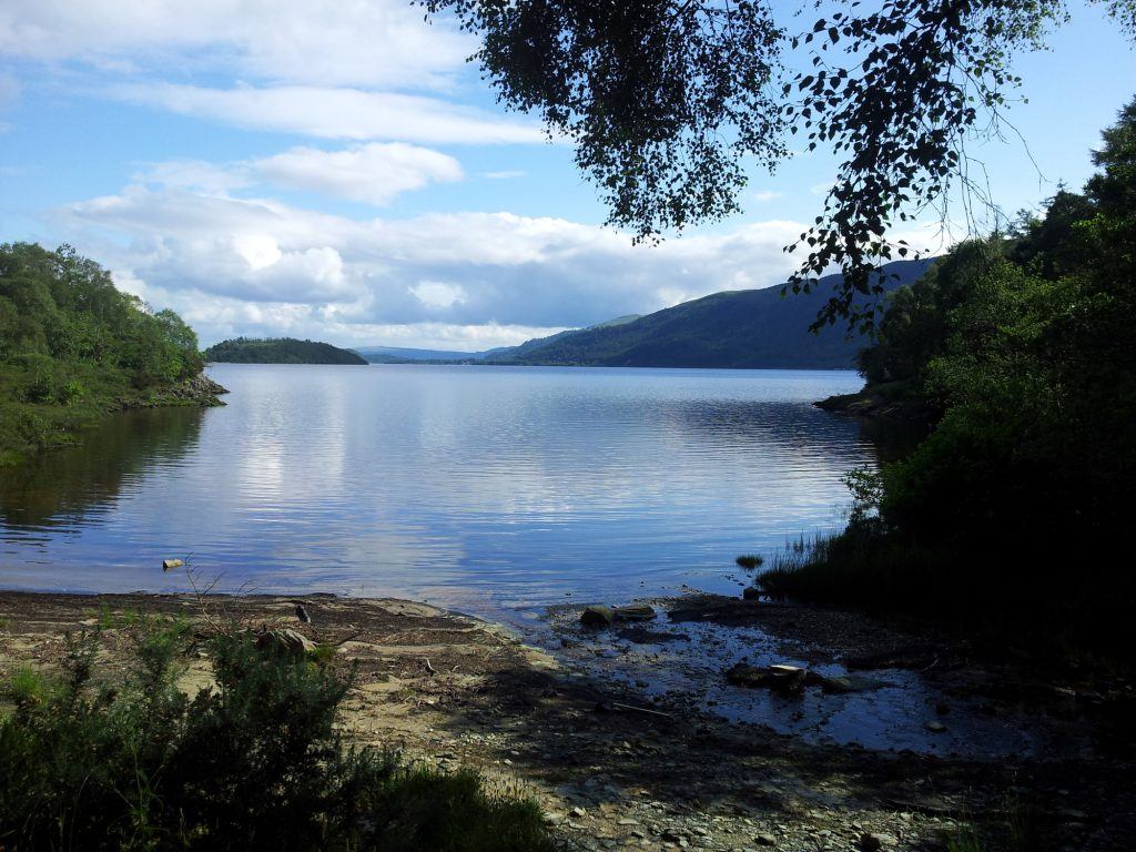 Loch Lomond on The West Highland Way on a sunny day