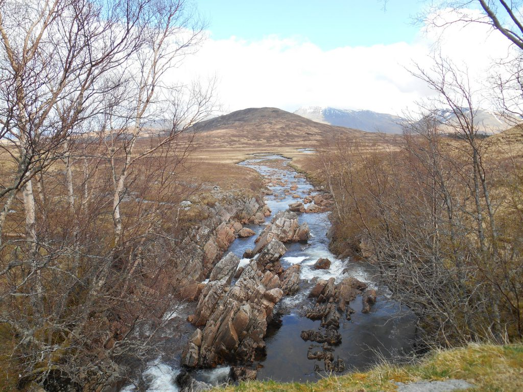 View from Ba Bridge on Rannoch Moor