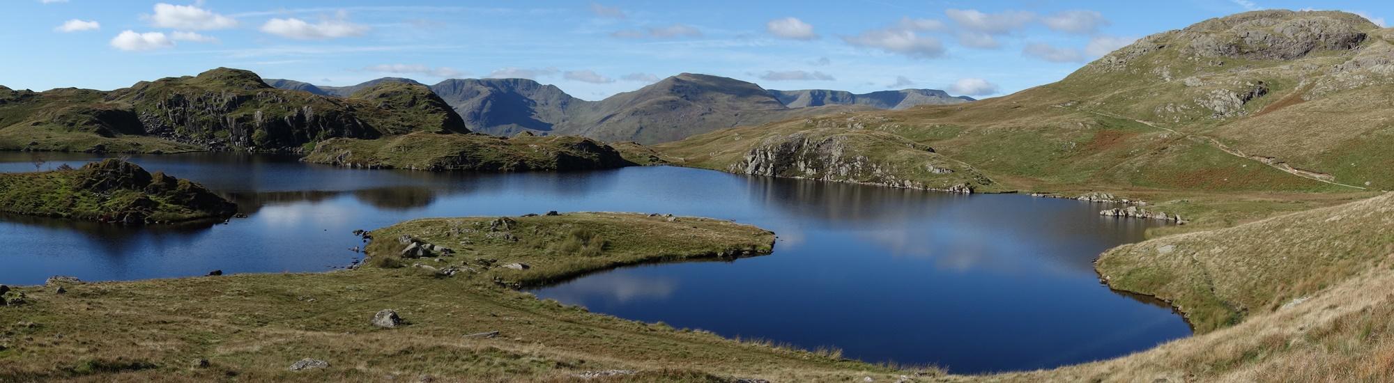 Panoramic photo of a lake on The Coast to Coast West