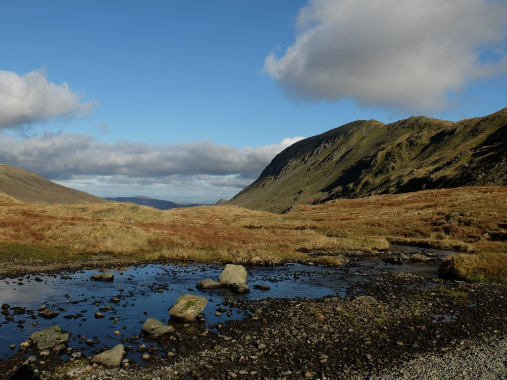 Small River in the lake district on the coast to coast footpath