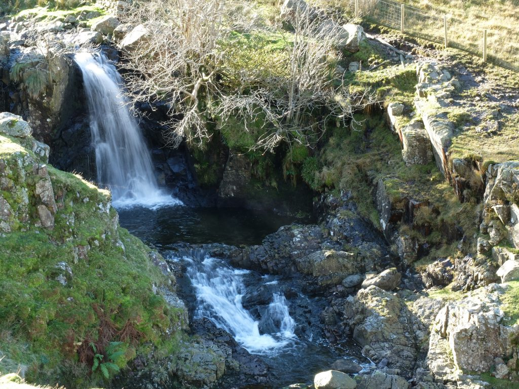 Waterfall on the ascent up to Greenup Edge - Coast to Coast England