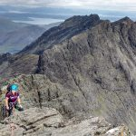 Approaching top of Inaccessible Pinnacle - Skye Cuillin Munros