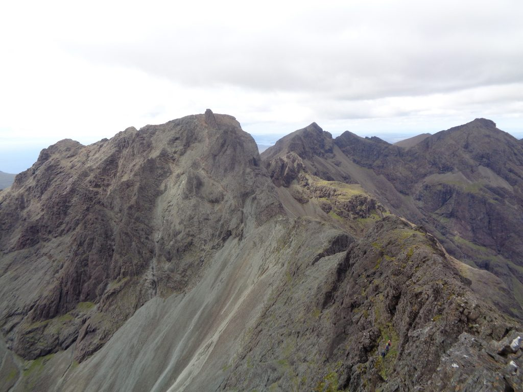 View of Cuillin Ridge Looking North - Skye Cuillin Munros