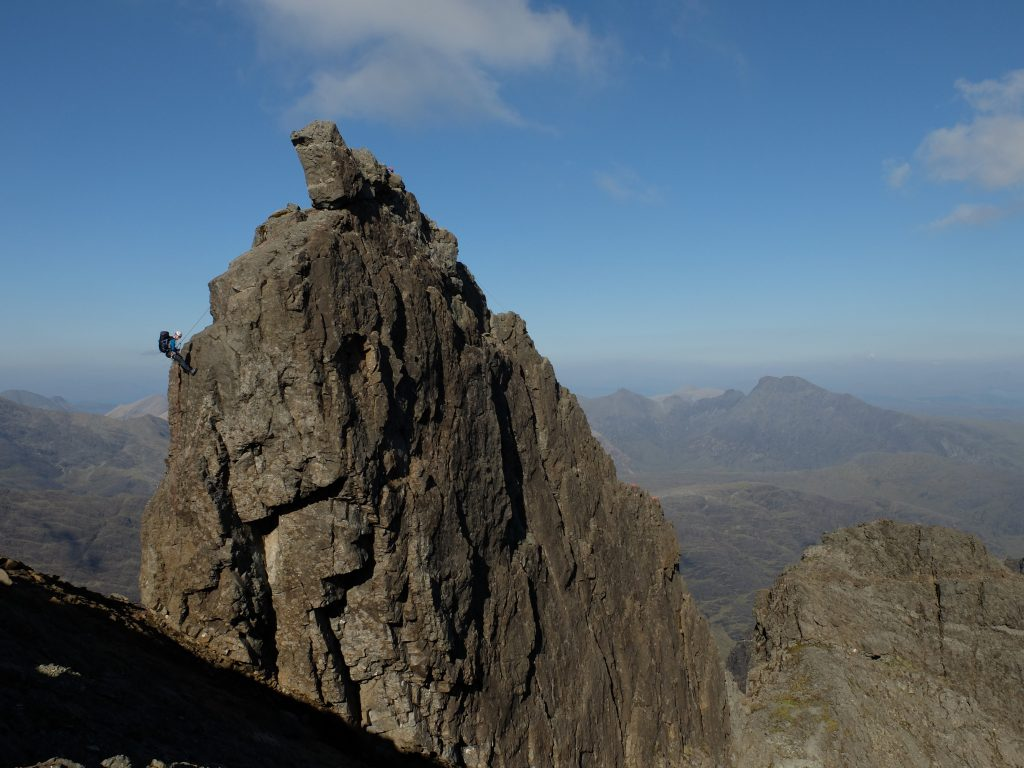 Abseiling off the Inaccessible Pinnacle - Skye Cuillin Munros