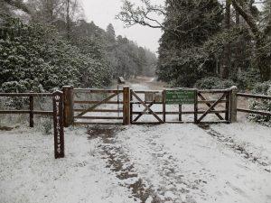 Rannoch Moor Gate in the Snow