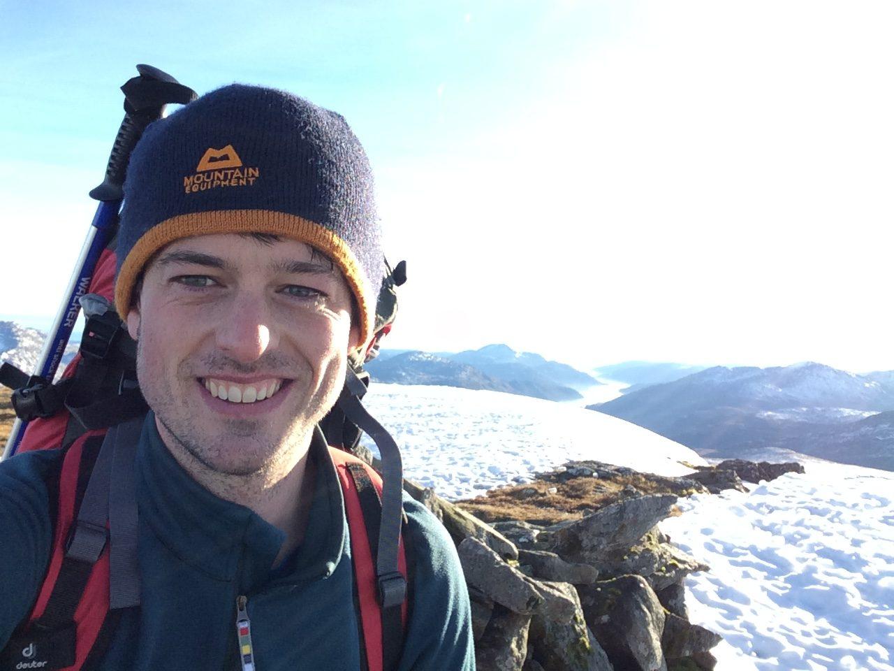 David on a winter walk SW Highlands