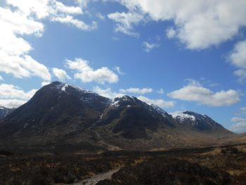 West Highland Way View of The Glencoe Mountains with a dusting of snow