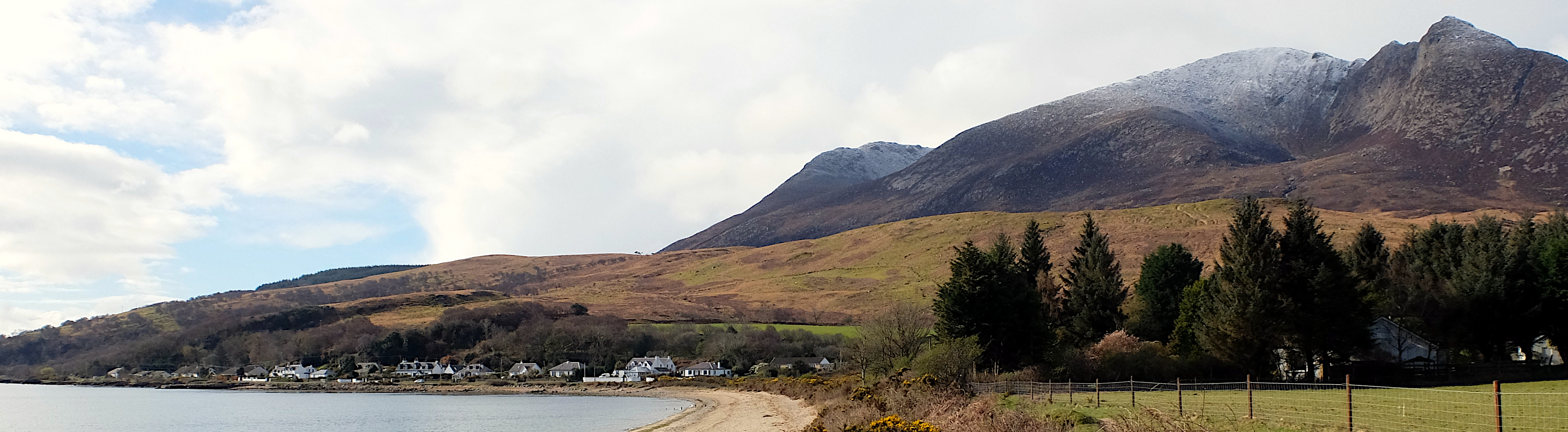 Sannox Bay and Goatfell on the Arran Coastal Way