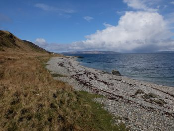 Beach near Laggan Cottage, Arran Coastal Way