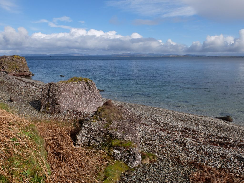 Boulders and Beach to the east of Arran