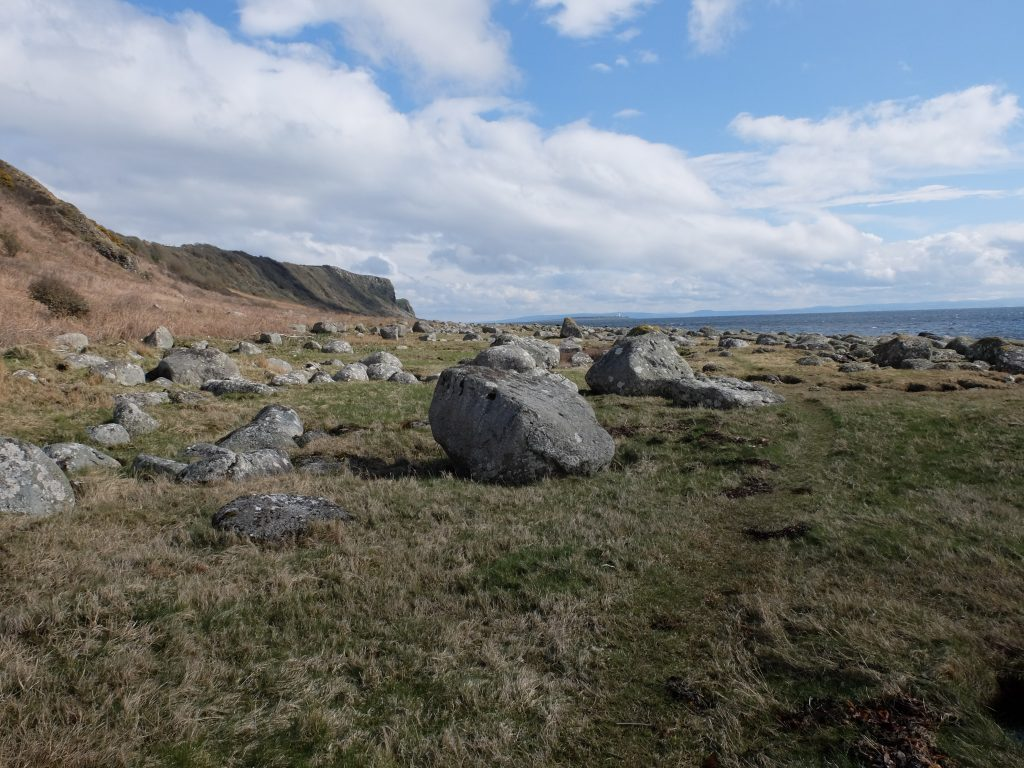 Boulders near Bannon on the Arran Coast