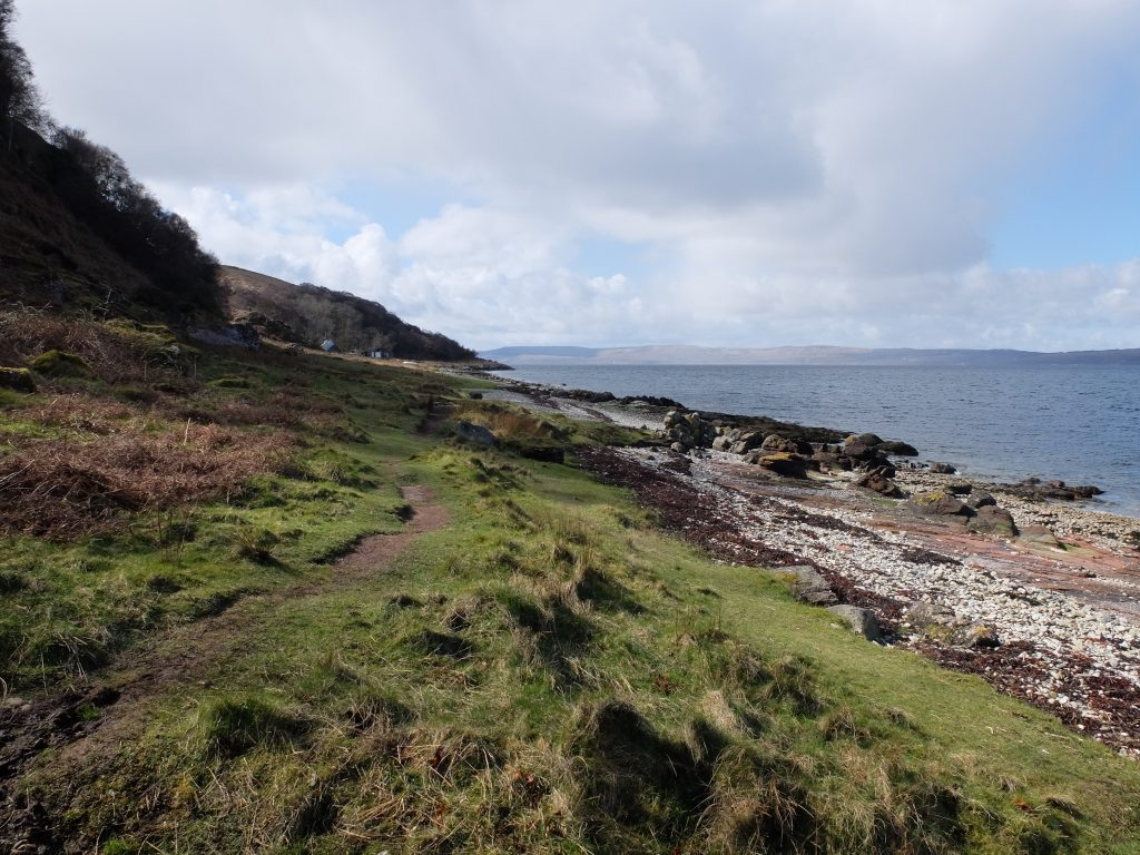 Arran Coastal Path near Laggan Cottage