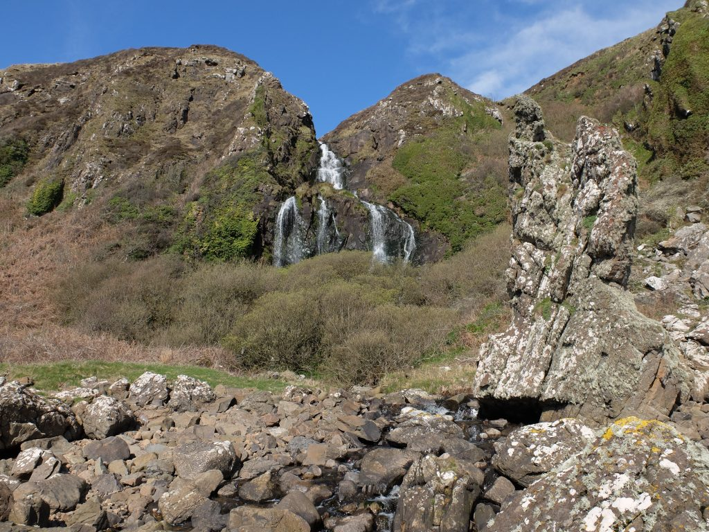 Waterfall at Black Cave on the Arran Coast