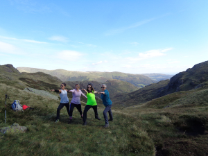 Lake district yoga poses