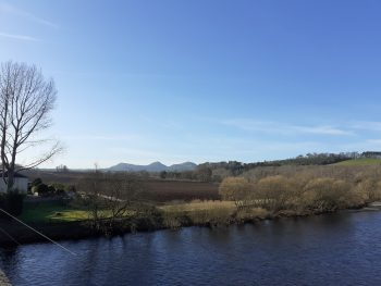 The Eildon Hills beyond the Tweed