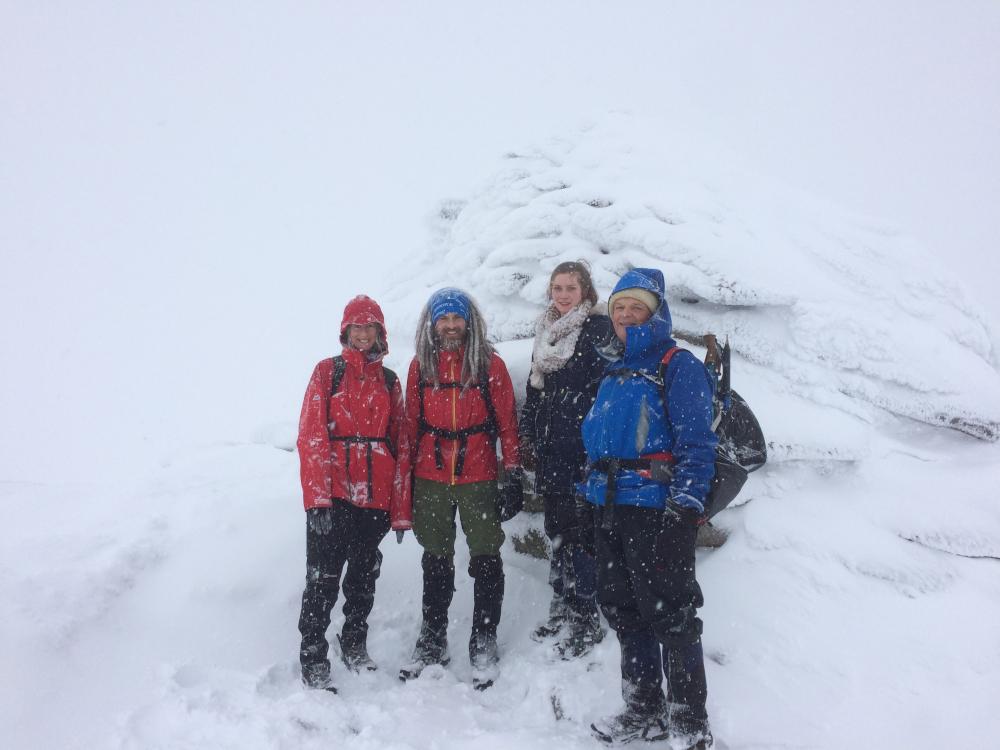 Lochnagar summit in winter