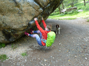 Bowderstone bouldering