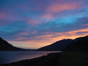Sunset on Loch Nevis near Sourlies Bothy